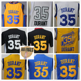 Wholesale icon waterproof - Men's Fanatics 35 Kevin Durant Blue white Branded Maroon 2018 Finals Jersey Icon Edition Cheap wholesale