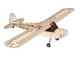 Wholesale Free Rc Plane - Free Shipping RC Airplane Balsa Wood Plane Wingspan 1180mm J3 Woodines Model Building Kit