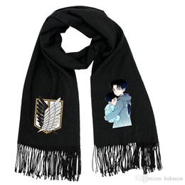 Wholesale Costumes For Students - Kukucos Attack On Titan Giant Soldier Mikado Students Warm Winter Scarves Cosplay Gift For Fans
