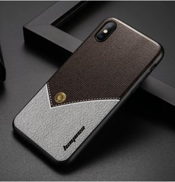Wholesale universal paint - Luxury Ultra-thin Painted Phone Case For Iphone Samsung Huawei Rear Cover Stitching Texture Phone Case Free Shipping