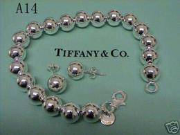 Argentina tiffany925 pulsera de collar de bola hueco de plata esterlina Conjunto de joyería de moda envío gratis regalo de cumpleaños para mujer Suministro