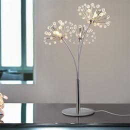 Lumières pour le mariage en Ligne-Lampe de table en cristal moderne simple luxe lumière créative chambre lampe de chevet mariage salle de mariage décoration lampe
