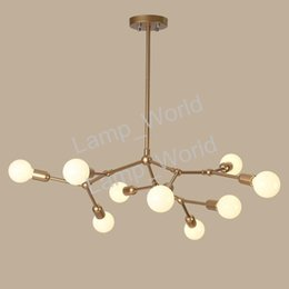 Wholesale modo chandelier - Modern Brief Fashion Creative DNA Chandelier Art MODO Glass Bubbles Chandelier Hotel Living Room Projector Suspension Light