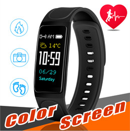 Wholesale smartphone heart monitor - C7s Fitness Tracker Smart Wristband Heart Rate Monito IP67 Wateproof Blood Pressure Monitor Pedometer Bracelet For Android ios Smartphone
