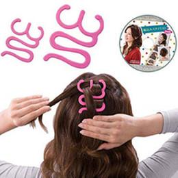2019 tipi di onde di capelli Treccia Rosa Centipede Treccia Capelli Wave Tipo Vassoio Styling Prodotto Strumenti in plastica tipi di onde di capelli economici
