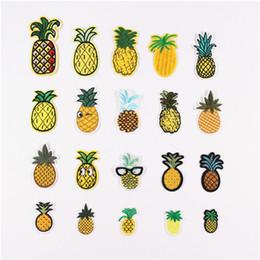 Bricolage Multicolor Food Bird Ananas Yeux ensemble Patch Modèle Brodé Coudre Fer ? partir de fabricateur