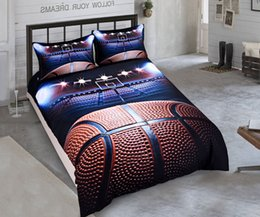 Wholesale 3d Comforters Sets - Sports Bedding Set for Teen Boys,Basketball Football Duvet Cover Set,2pcs 1 Duvet Cover 1 Pillowcase(no Comforter inside)