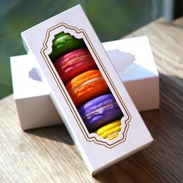 Canada Fenêtre Macaron boxe, boîte à gâteaux, boîte-cadeau 30PCS / LOT Offre