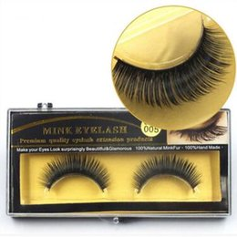 Wholesale long black hair - Mink Eyelash False Fake Eyelashes Handmade Natural Long Thick Mink Natural Thick Eye Lashes Extension CCA8975 50pairs