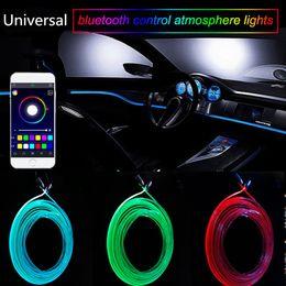 Car Interior LED RGB Atmosfera Lamp Neon Strip luz Car-styling Decoração com sonora Ativa Bluetooth APP Remote Control Nova de Fornecedores de controle remoto toyota camry