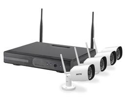 Wholesale Home Video Surveillance Systems Wireless - 4CH IR HD Home Security Wireless NVR IP Camera System 720P 1080P CCTV Set Outdoor Wifi Cameras Video NVR Surveillance CCTV KIT