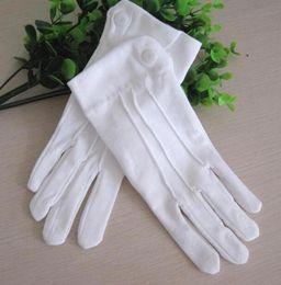 2019 forro de canada Guantes de algodón blancos para hombres Guantes de baile blancos para mujeres guantes de etiqueta de algodón para mujeres
