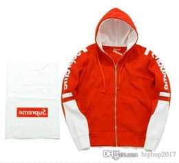 Wholesale New Cashmere Sweater Xl Woman - The new kanye west hip hop championer sports fight color plus cashmere sweater sweater men and women leisure retro hip hop hooded jacket