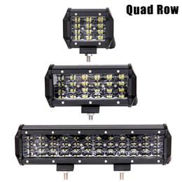 Luces led quad atv online-10 pulgadas barra de luces LED Quad Row Offroad trabajo luces de conducción para camiones 4x4 SUV ATV barco 4WD Tractor 12V 24V