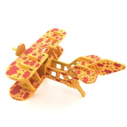 Wholesale Handmade Wooden Model - Baby DIY Handmade Wooden Puzzle Children Leisure Toy Workmanship Simulation Model Two Wing Aircraft Smooth Surface Positive Color 5 5qd W