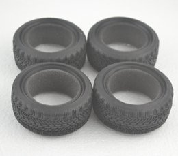 Wholesale Tyre Rc Cars - 4Pcs drfting smooth Running Flat R C crawler Racing Rubber Tyre Wheel Tire skin for 1 10 RC On Road Car