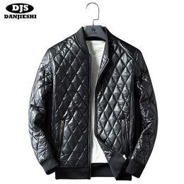 2019 оптовые подставки для мотоциклов Wholesale- DANJIESHI Men Autumn Winter Leather Jackets Solid Motorcycle Man Business Casual Coats  New Stand Collar Plus Size M-3XL дешево оптовые подставки для мотоциклов
