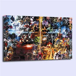CRIANÇAS MARVEL VS DC LEGENDS PERSONAGENS HD Impressão de tela Home Decor Art Pintura / (Sem Moldura / Emoldurado) de