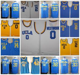 719feef75 NCAA UCLA Bruins College Basketball Russell Westbrook Lonzo Ball Kareem  Abdul Zach LaVine Jabbar Reggie Miller Bill Walton Kevin Love Jersey