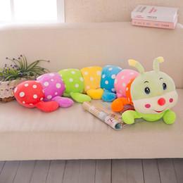 brinquedos macios da lagarta Desconto Bonito Macio Dos Desenhos Animados Boneca De Pelúcia Colorido Lagarta Brinquedos Do Bebê Travesseiro De Dormir Presente para Crianças Dos Miúdos 23.6in