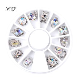 rhinestone nail art designs Promo Codes - 12Pcs Nail Art Decoration Patterns Nail Art Rhinestone Diamond 3D Tips Accessoires Jewelry Manicure Tools Decoration DIY Design