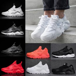 Wholesale Pvc Snow Shoes - Classical Air Huarache 4 Running Shoes For Mens Womens Triple black white Red Mesh Breathable Huaraches Sports Sneakers casual eur 36-45