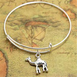 Bracelet de chameaux en Ligne-12pcs / lot bracelets de chameau bijoux de désert animaux charmes bracelets de désert réglables