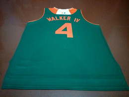 Wholesale Iv S - Men #4 LONNIE WALKER IV college Jersey white ORANGE GREEN Stitched Personalized or custom any name or number College jersey