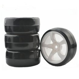Wholesale Rc Tyres - 1 10 RC Crawler TIRE accessories 4PCS Plastic Wheel Rim and Rubber DRIFTING TYRE ON ROAD FW06