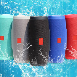 Wholesale wireless mp3 player - Charge 3 Bluetooth Speaker Portable Built-In 2400mAh Battery Wireless Speakers Outdoor Waterproof Subwoofer Powerbank Charge3 In Stock DHL