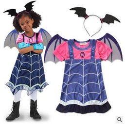 Vampirina Halloween Costume for Kids Witch Party Christmas Carnival Costumes  for Children Batgirl for Girls Cosplay Vampire Fancy Dress 445cb2a0eb10