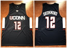 c99bec2cb0a  12 Andre Drummond UCONN Huskies college Retro Classic Basketball Jersey  Mens Stitched Custom Number and name Jerseys