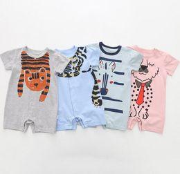 76a08db15a16 Multicolor Toddlers cartoon Romper Baby boys girls cute animals ships short  sleeve onesie lions giraffe zebra dog cow patterns ins hot. Supplier   krtrading