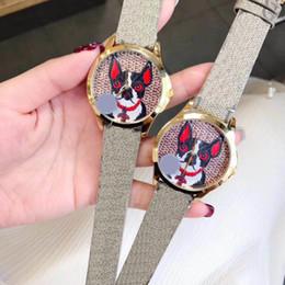 Wholesale g dog - 2018 New G-Timeless Bosco Dog Wristwatch Nylon Dial Unisex Watch YA1264056 Best Quality