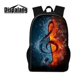 Wholesale Music School Bag - Music Note Printing Women Shoulder Bags 16 Inch Children Backpack Lightweight School Bag For Teen Girls Primary Students Rugtas Mochila Pack