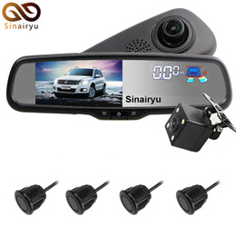 Wholesale Video Camera Brackets - Original Bracket Car Dvr Detector Camera Review Mirror DVR Video Recorder Camcorder Dash Cam FHD 1080P With 4 Parking Sensor