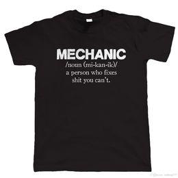 Vendita auto classica online-Meccanico Mens T Shirt Divertente - Regalo per papà Classic Car Garage Cool T-shirt Disegni I più venduti Uomini T-Shirt Uomo Nuovo