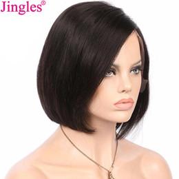 Jingles Qualité Naturel Pas Cher Raw Indien Bob Cut Remy Cheveux Humains Avant de Lacet Perruques Cheveux Humains Courts Full Lace Perruques Pour Les Femmes Noires ? partir de fabricateur
