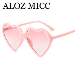 2019 designer em forma de coração óculos de sol ALOZ MICC Moda Coração Óculos De Sol Das Mulheres Designer de Marca Retro Rosa Vermelho Preto Amor Em Forma de Coração Óculos de Sol Para Senhoras UV400 A552 designer em forma de coração óculos de sol barato