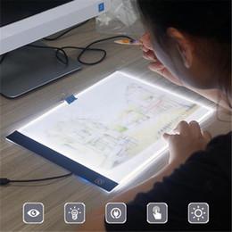 Tableaux de table en Ligne-K1 LED Light Table de dessin Pad USB A4 Copy Board Copie Sketch Tracing Display Noir pour vous