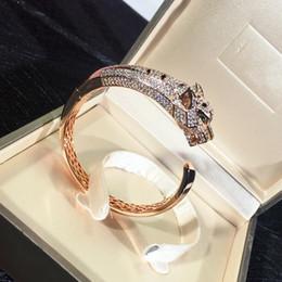 8856226c2c855 Bijoux en plaqué or 18K pour femmes Leopard Bracelet Marque Designer Micro  Pave CZ Bracelet Livraison Gratuite