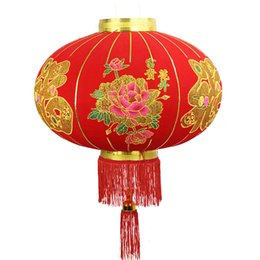 chinese lantern festival decorations Promo Codes - Chinese new year hanging decoration foldable lanterns Red is festival DL202-2