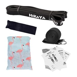 Wholesale Manual Pull - HIKAYA Pull Up Assistance Band Set 2, Resistance band, Door Anchor, Stretch Strap, with Manual and 6 Week Exercise Log
