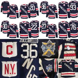 Wholesale Winter Xl - New York Rangers 2018 Winter Classic Jersey Shattenkirk Miller Vesey Skjei Buchnevich Lundqvist Zuccarello McDonagh Nash Zibanejad Kreider