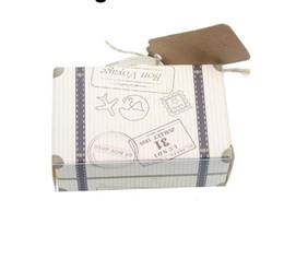 Deutschland 50 Stücke Retro Koffer Design Party Gäste Geschenke Favor Pralinenschachtel Kinder Geburtstagsgeschenk Party Hochzeit Süßigkeiten Taschen Liefert Versorgung