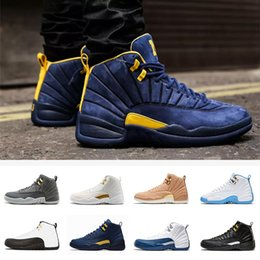 brand new 36a04 b82f3 Nike Air Jordan Retro 12 Zapatos de baloncesto French Blue 12 taxi 12s gym  red Juego UNC Gym taxi rojo gamma french blue Suede sneaker Sports size 7-13
