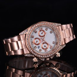 Wholesale unique couple - Top Luxury AAA Brand Men's Watch Classic Diamond Dial Automatic Calendar Folding Buckle Main Design Unique Diamond Watch Couples Clock