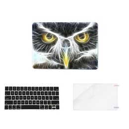 Wholesale Eagle Plastic - Eagle 3 in 1 Colorful matte Hard Case skin Plastic Keyboard Cover for macbook pro air laptop(1keycover+1case+1screen proctor)