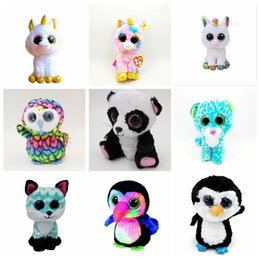 Wholesale Big Eyes Stuffed Animal Ty - Hot Ty Beanie Boos Plush Stuffed Toys 15cm Wholesale Big Eyes Animals Soft Dolls for Kids Birthday Gifts ty Toys YYA1239