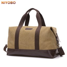 large hand luggage bag Coupons - NIYOBO Large Capacity Canvas Travel Bags Casual Men Hand Luggage Travel Duffle Bag Big Tote 5 Colors Male Crossbody bag PT1234